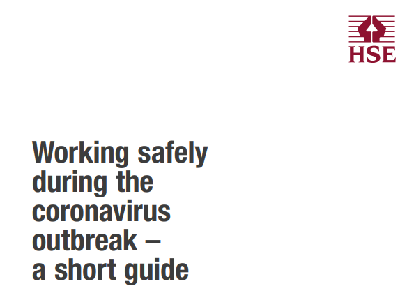 HSE working safely during coronavirus outbreak guide